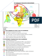 CROQUIS  CENTRES DIMPULSION  INEGALITES DE DEVELOPPEMENT