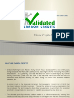 Validated Carbon Credits Brochure