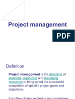 Project Management I