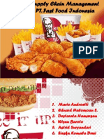 KFC Logistics Model and Supply Chain Analysis Kel 4