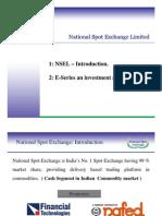 NSEL E-Series Presentation