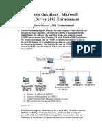 MCSE Sample 70-290