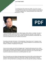 Lt-Gen Yawdserk on Chinese abductees