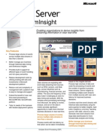 Stream Insight Datasheet III