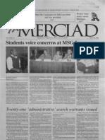 The Merciad, March 28, 2001