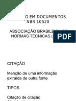 CITAÇÃO EM DOCUMENTOS