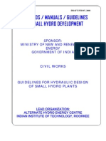 2.2 Guidelines for Hydraulic Design of Small Hydro Plants