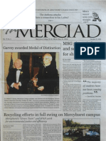 The Merciad, Oct. 25, 2001