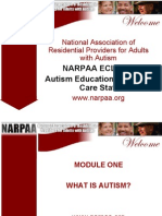 NARPAA E-Class Module 1 - What is Autism?
