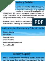 Monetary and Credit Policies