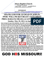 WBC Will Picket Beast in Joplin