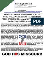 WBC Will Picket Beast in Joplin