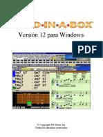 Band In A Box 12 Manual Español