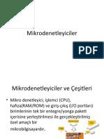 Robotik - Mikrodenetleyiciler