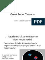 Robotik - Örnek Robot Tasarımı