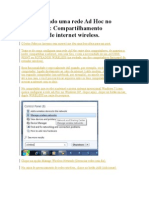 Configurando Uma Rede Ad Hoc No Windows 7
