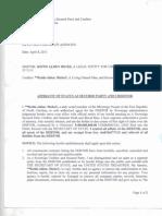 Affidavit of Secured Party Creditor
