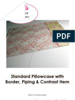 Pillowcase with Border, Piping, & Contrast Hem Detail