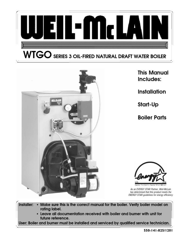 Wtgo Boiler Manual Chimney Water Heating Weil Mclain Wiring Diagram
