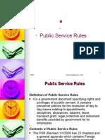 Public Service Rules