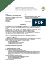 Charte d'Utilisation Des TICE