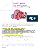 Summer 09 Rising 9th Grade Packet Basic Skills Part 1 and 2