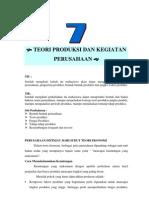 Modul 7 Teori Produksi Dan Kegiatan an
