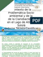Caso de Cianobacteria en el lago de Atitlán Guatemala
