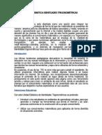 UNIDAD TEMÁTICA IDENTIDADES TRIGONOMÉTRICAS