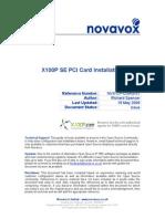 Novavox x100p Se Installation Guide
