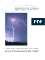 Lightning Strikes Know the Dangers and Use Precautions