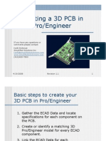 Steps to Create 3D PCBs in ProE