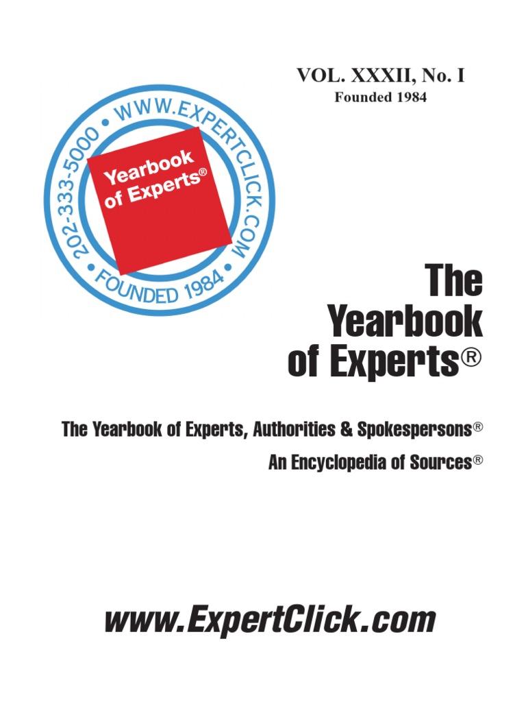 Yearbook of experts authorities spokerspersons news websites fandeluxe Gallery