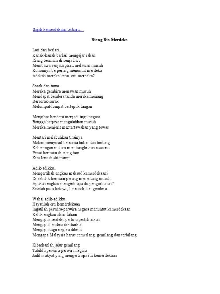 Kemerdekaan Puisi Kanak Kanak