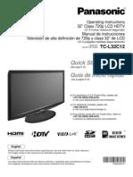 TCL32C12-SPA Manual Televisor Panasonic LCD