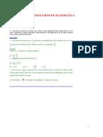 Exercícios resolvidos e comentados de matemática 0