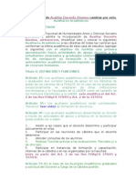 (Propuesta) de Reglamento de Auxiliares Académicos