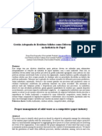 Gestão Adequada de Resíduos Sólidos como Diferencial Competitivo na Indústria de Papel