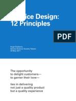 12 Service Design Principles