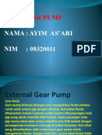 Gear Pump (Pompa Roda Gigi)