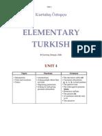 Elementary Turkish Unit 4