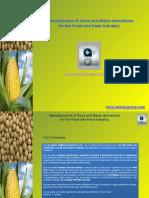 Food Ingredients Corn, Soy