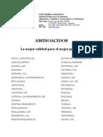 Catalogo Aminoacidos