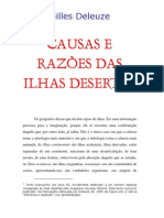Gilles Deleuze - Causas e Razoes Das Ilhas Desertas