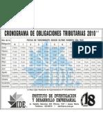 Cronograma de Obligaciones Tri but Arias 2010