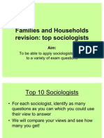 Top Sociologists