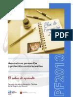 Curso avanzado de prevención, extinción de incendios 2010
