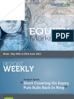 Equity Reports for the Week (from 30th May – 3rd June '11)