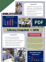 BGS Library 2010 Snapshot