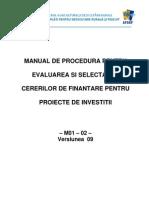 Manual de Procedura de Evaluare Si Selectare a Cererii de Finantare